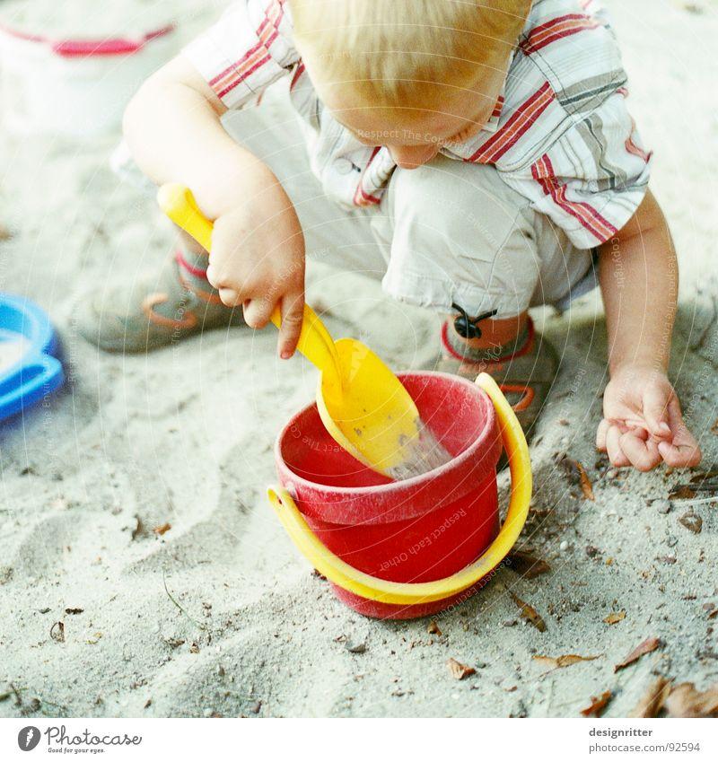 Child Blue Red Boy (child) Playing Sand Toys Loudspeaker Build Bucket Filter Sandpit Builder Sand toys