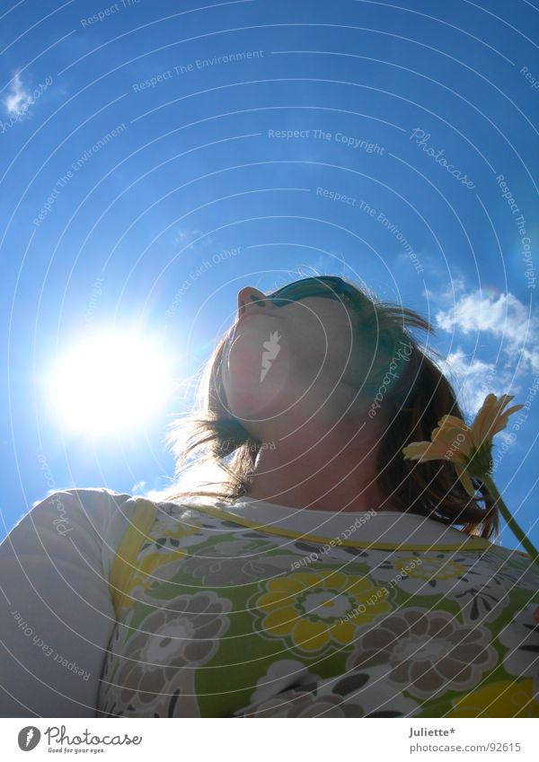 Sunshine Raggae Lighting Woman Fresh Flower Ease Sky Beautiful Colour