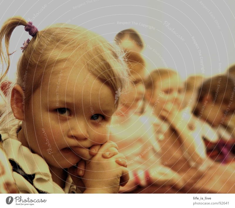 Human being Child Time Sit Sweet Gloomy Concentrate Cute Boredom Watchfulness Timidity Snapshot Offspring