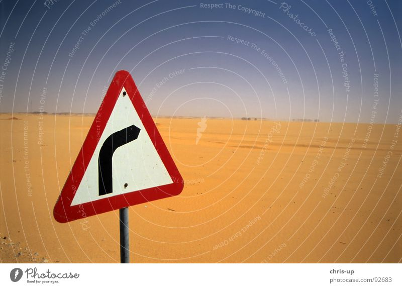 Loneliness Street Death Lanes & trails Warmth Sand Map Empty Dangerous Threat Africa Desert Physics Curve Navigation Blue sky