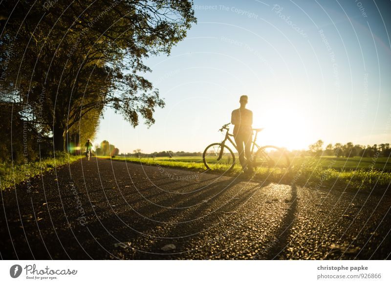 Human being Woman Youth (Young adults) Summer Sun Relaxation Young woman Joy Adults Street Autumn Lanes & trails Sports Lifestyle Leisure and hobbies Bicycle