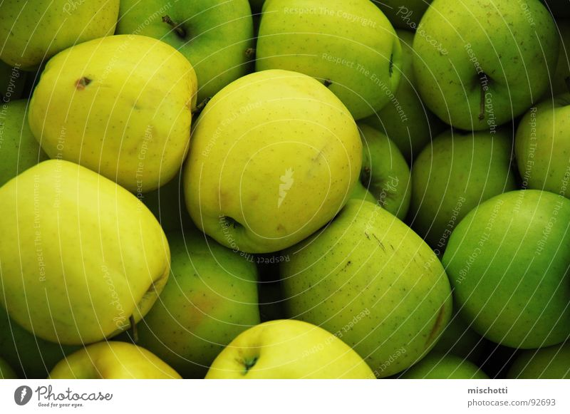 market apples Green Yellow Multiple Fruit Apple Markets Stalk Many