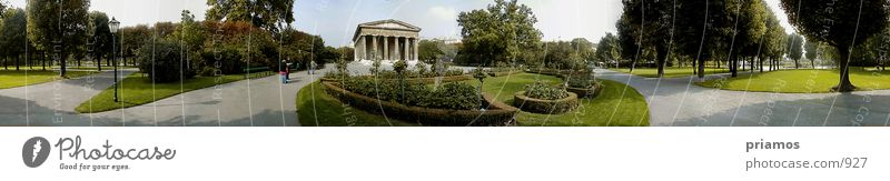 public garden Park Vienna Town Green Nature Temple of Thesseus 360° panorama