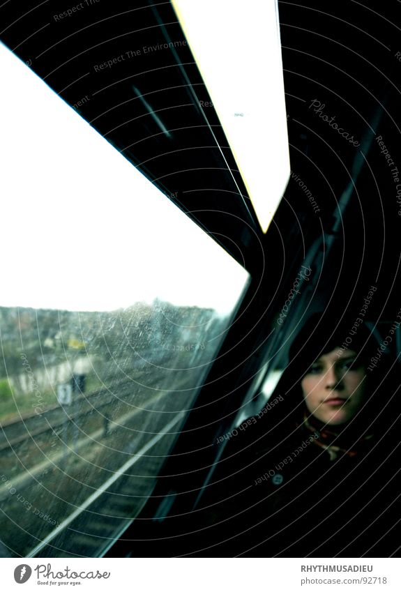 Vacation & Travel Dark Railroad Train station Thought Hopelessness Ambiguous