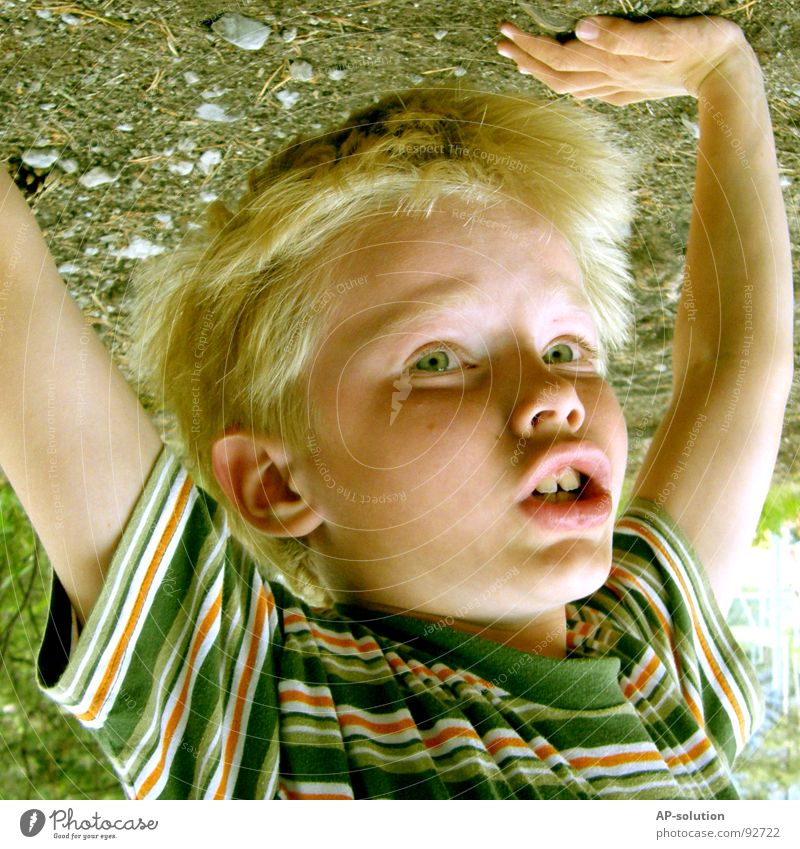 Human being Child Hand Green Vacation & Travel Joy Colour Face Eyes Playing Emotions Boy (child) Hair and hairstyles Laughter Small Stone