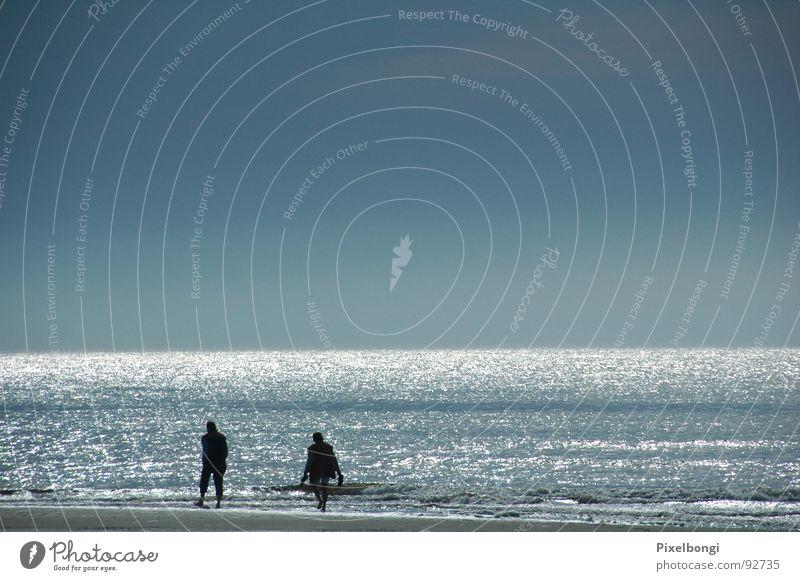 Ocean Calm Beach Far-off places Freedom To go for a walk Dusk Netherlands Texel