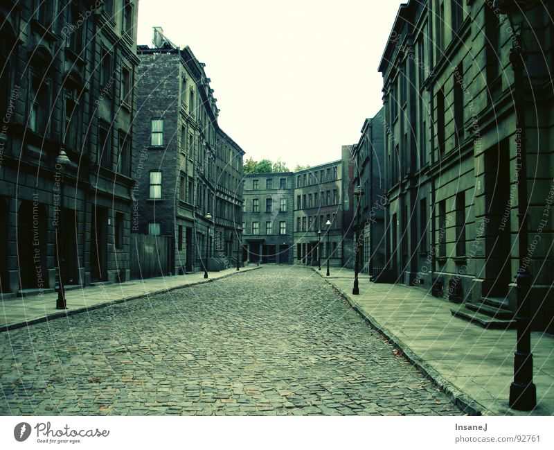 emptystreet House (Residential Structure) Alley Lantern Cobblestones Loneliness Traffic infrastructure Street Empty flown out