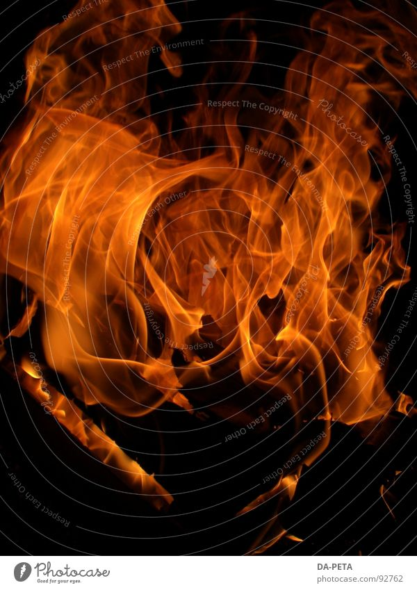 Red Yellow Bright Orange Blaze Fire Hot Passion Burn Flame Hell Fireplace