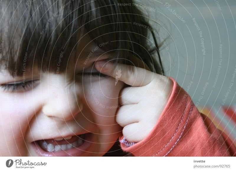 little obstacle Child Anger Aggravation Joy Actor blow over my eye mini annoying eye little fingers warning my eye obstrudes fringe princess's sadness