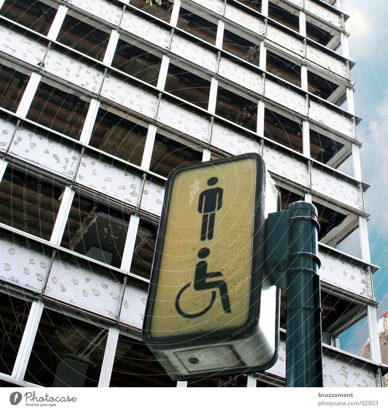 High-rise Facade Toilet Traffic infrastructure Duesseldorf Dismantling Redevelop Exclusion Urinal Downfall Thermal insulation Hofgarten