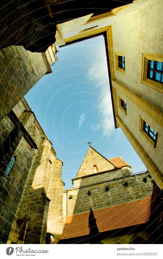cathedral Old town House (Residential Structure) Meissen Medieval times Saxony Town Saxon Switzerland Architecture albrechtsburg Dome Interior courtyard angled