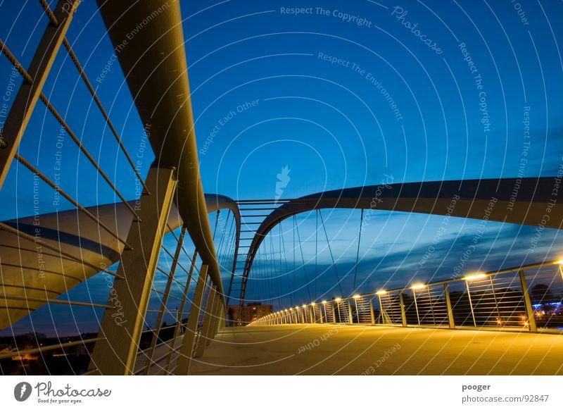 Sky Blue Yellow Bridge Dynamics Handrail Swing Rhine Basel