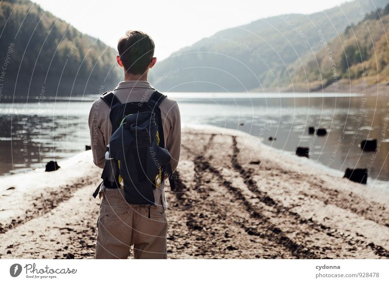 arrived Harmonious Relaxation Calm Vacation & Travel Trip Adventure Far-off places Freedom Hiking Human being Young man Youth (Young adults) Environment Nature