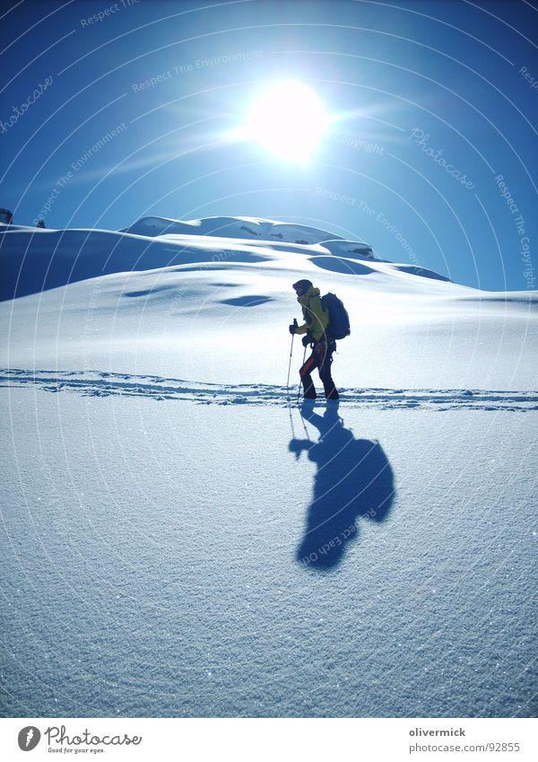 Sun Sports Snow Playing Moody Mountaineering Skier Winter sports Shadow play Ski tour Powder snow Snow track