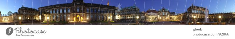 round the world Dresden Panorama (View) Zwinger Night Monstrous HDR Historic Art Arts and crafts  all around Wide very broad extra wide DRI Large
