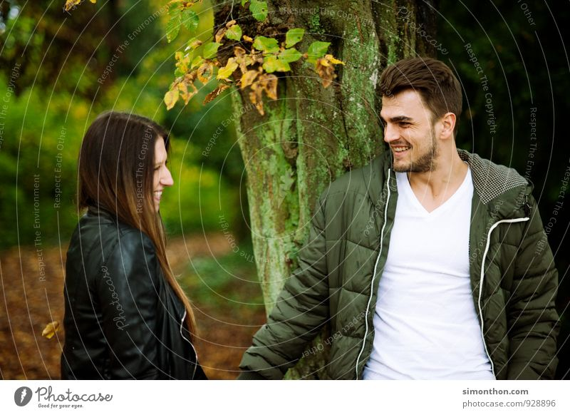 lovers Parents Adults Brothers and sisters Family & Relations Friendship Couple Partner Youth (Young adults) Life Nature Autumn Garden Park Forest Joy Happy