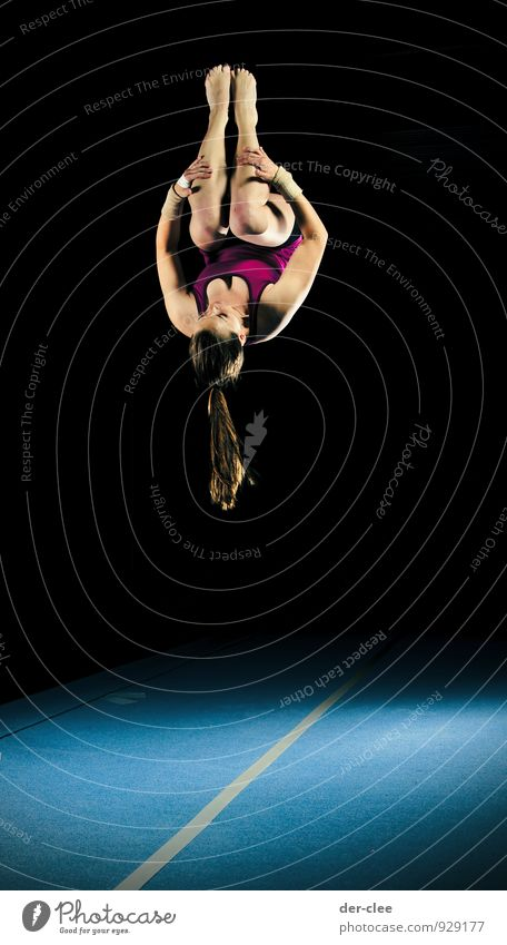 somersault Elegant Athletic Fitness Sports Sportsperson Gymnastics Salto Feminine Young woman Youth (Young adults) Woman Adults Body 1 Human being 13 - 18 years