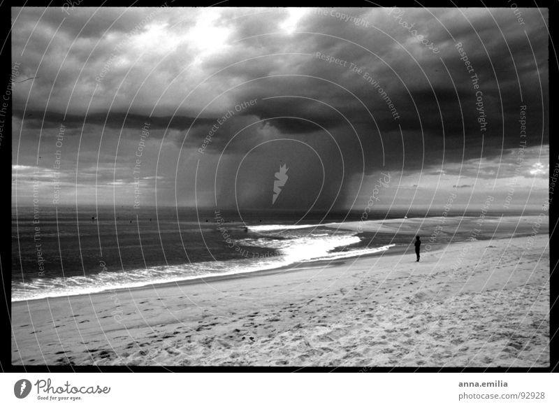 Ocean Loneliness Rain Waves Wind Thunder and lightning Atlantic Ocean