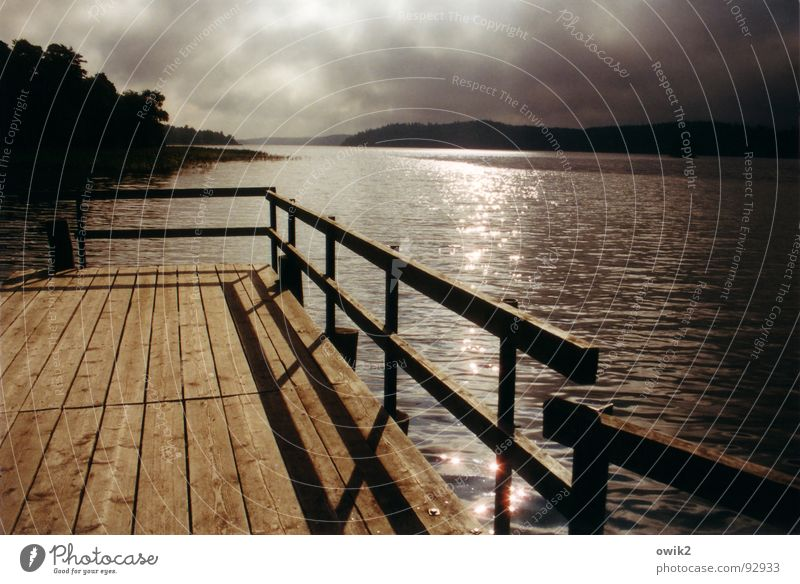Evening at Lake Mälar Colour photo Subdued colour Exterior shot Deserted Copy Space right Day Light Shadow Contrast Sunrise Sunset Panorama (View) Beautiful