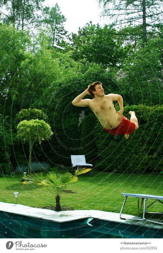 Man Nature Water Tree Green Red Summer Joy Vacation & Travel Forest Meadow Jump Grass Spring Garden Flying