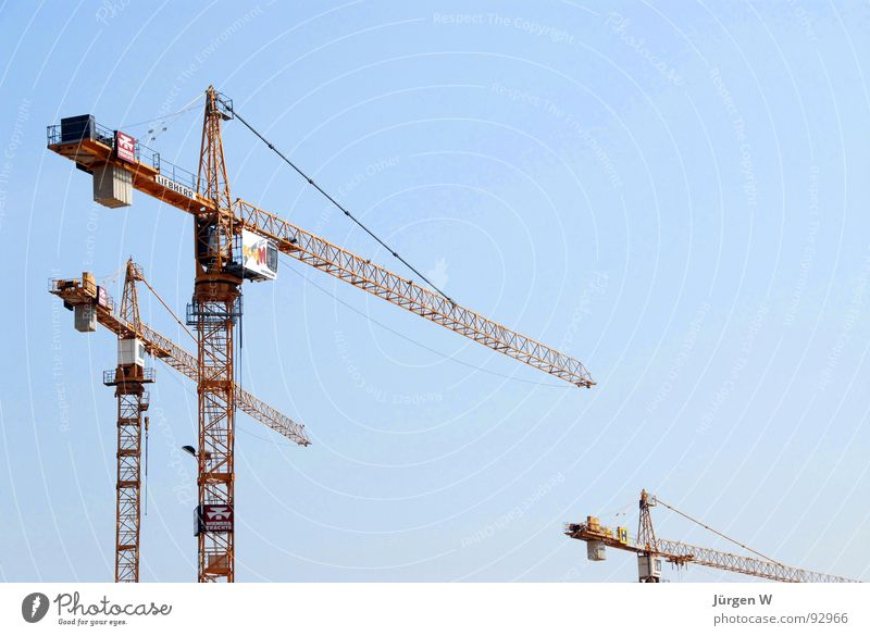 Sky Blue Yellow Stand Tall Industry Steel Crane Scaffold
