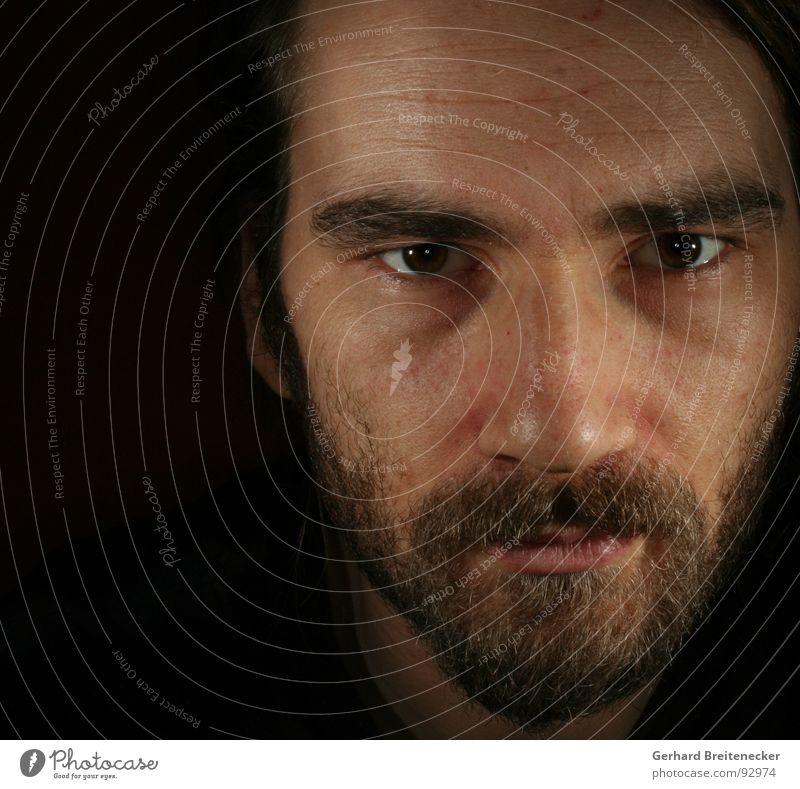Man Calm Face Head Closed Open Mysterious Friendliness Facial hair Honest Profound