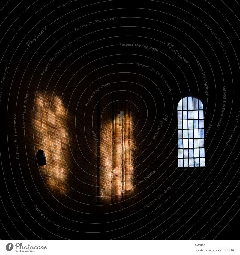 Dark Window Religion and faith Room Large Church Dome Holy Cathedral Shaft of light Brick wall House of worship Lower Saxony Protestantism Church window