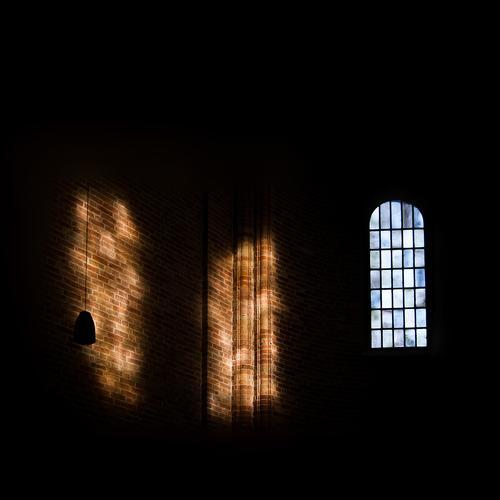 sanctuary Church Dome Room Cathedral Window Dark Large Shaft of light brick church Brick wall Brick Gothic Ratzeburg Lower Saxony Church window House of worship