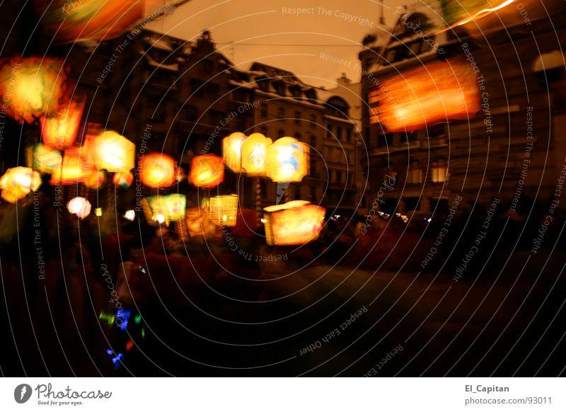 Switzerland Carnival Lantern Moving (to change residence) Old town Basel Power failure Lampion