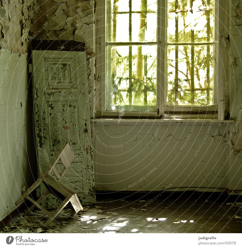 sanatorium House (Residential Structure) Furniture Chair Room Ruin Building Window Old Sadness Creepy Broken Loneliness Fear Colour Transience Shutter Entrance