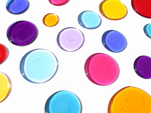 colourful stains Multicoloured Circle Macro (Extreme close-up) Close-up Colour Patch
