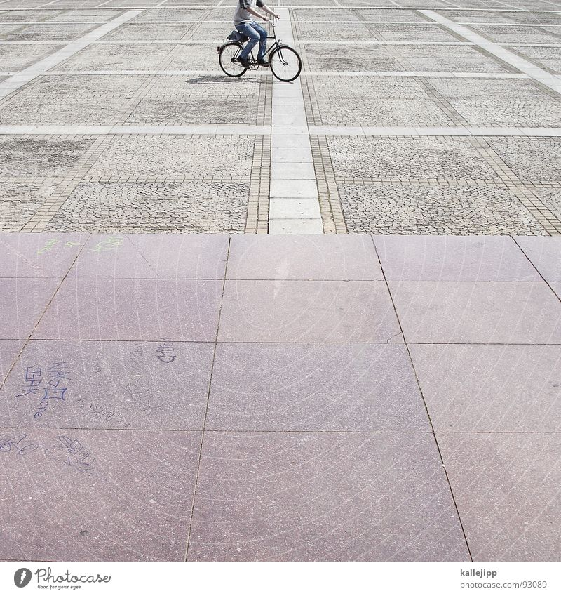 Stone Bicycle Places Traffic infrastructure Cycling Paving stone Marble Granite Paving tiles Stone slab Ladies' bicycle Parade ground