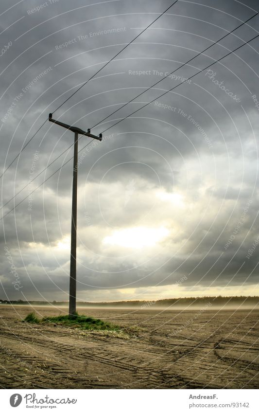 Sky Summer Clouds Sand Rain Landscape Field Wind Weather Earth Energy industry Electricity Gale Thunder and lightning Storm Electricity pylon