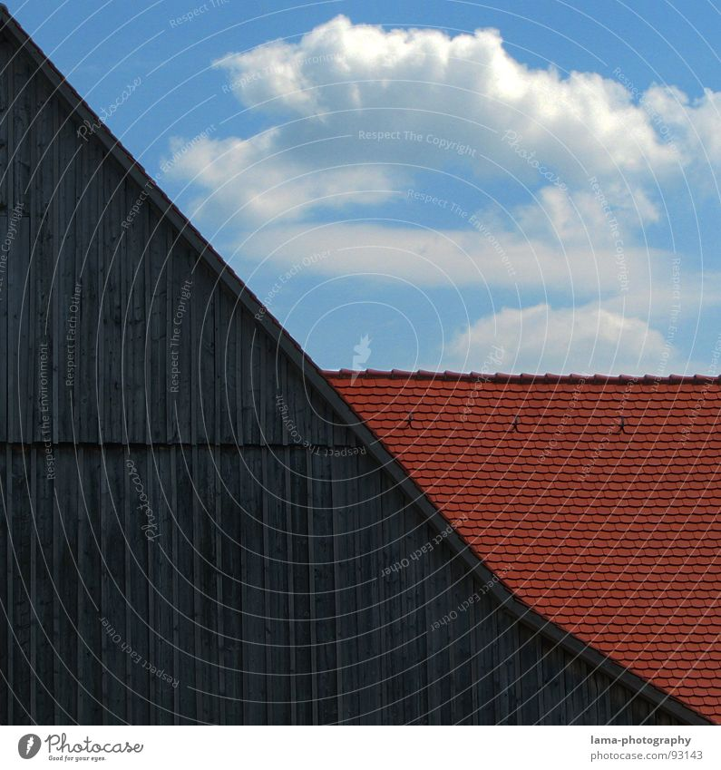 Sky Blue Red House (Residential Structure) Clouds Wall (building) Wood Gray Building Rain Brown Weather 3 Corner Roof