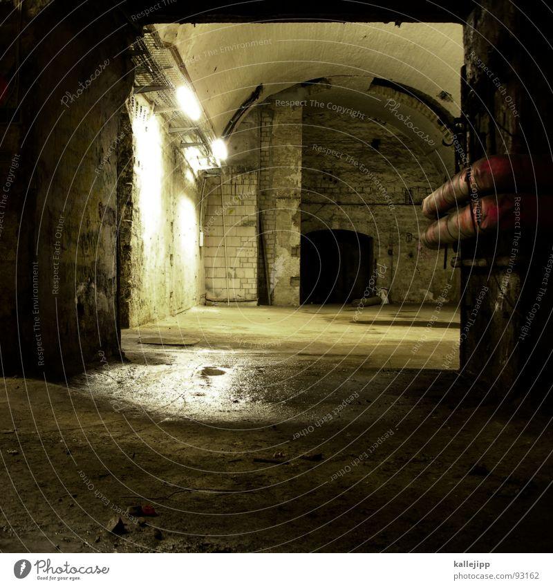 Death Lanes & trails Architecture Dangerous Threat End Ghosts & Spectres  Heater Neon light Cellar Eerie Cemetery Hiding place Terror Bomb