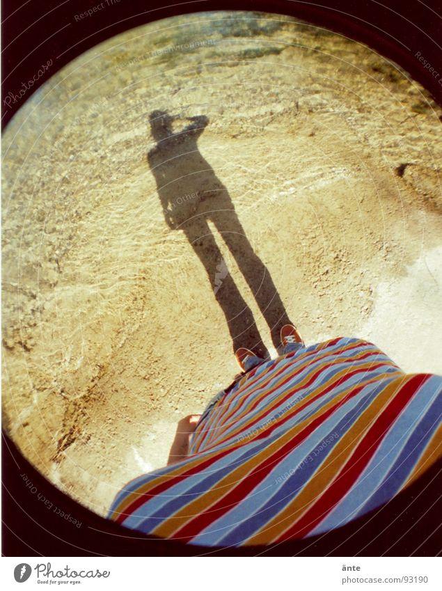 Water Beach Footwear Coast River T-shirt Round Fisheye Stripe Take a photo Striped Darken Aare