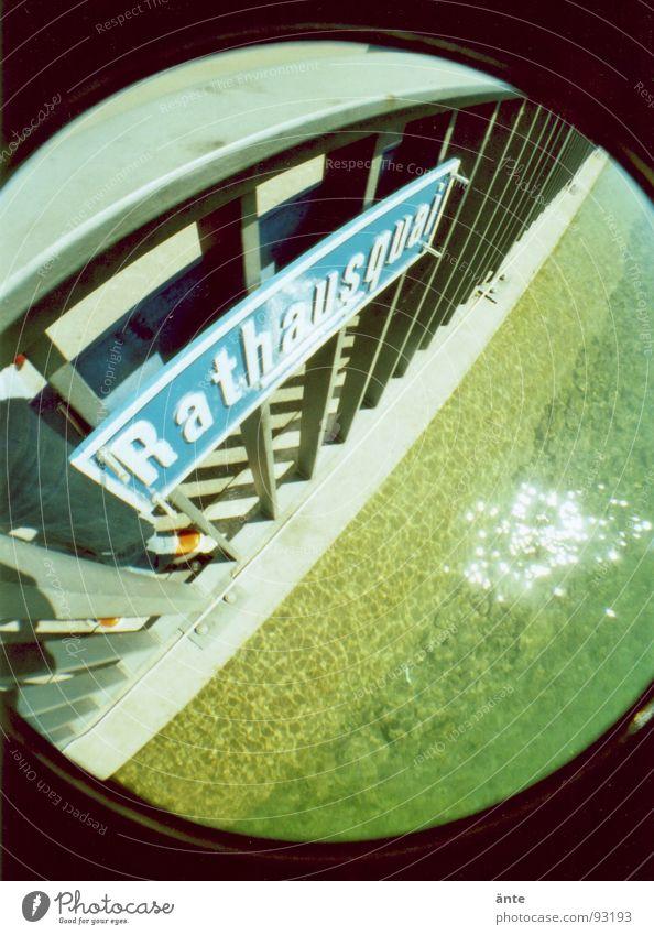 Water Metal Coast River Round Handrail Iron Rod Street sign Thun Aare