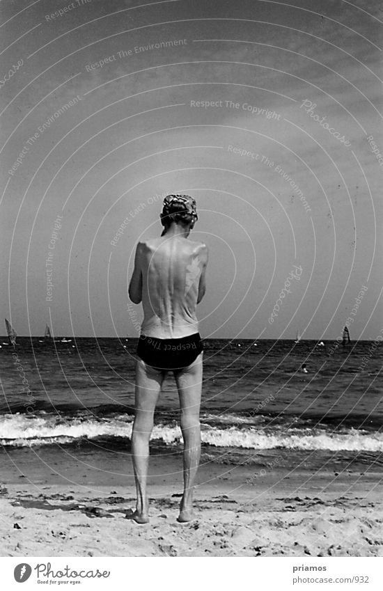 Human being Man Nature Water Old Ocean Beach