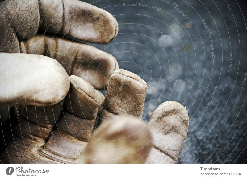 Emotions Empty Simple Touch Wrinkles Leather Gloves Pane Stitching Garden table Work gloves