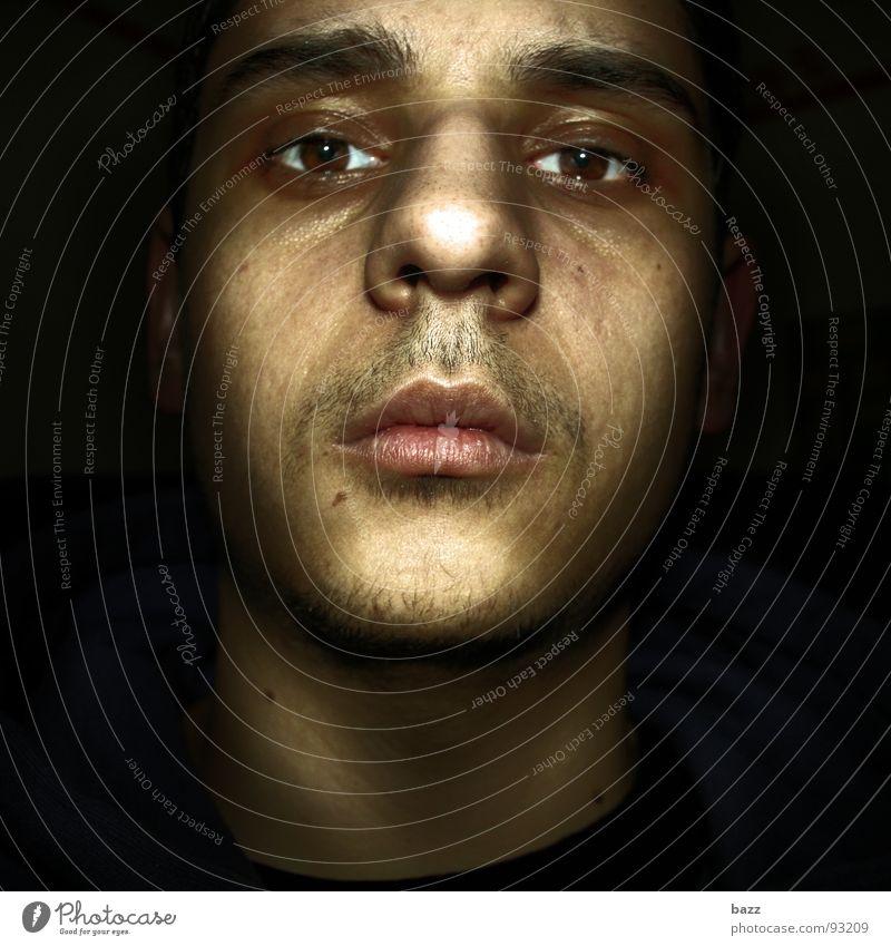 Face Dark Fear Panic Reaction