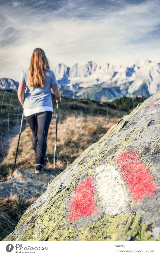 Okay, I'm gonna go, then! Vacation & Travel Tourism Trip Adventure Far-off places Freedom Summer vacation Mountain Hiking Nordic walking Feminine Young woman