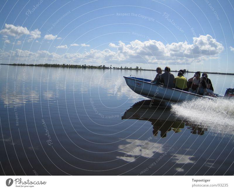 boat tour Watercraft Lake Clouds Summer Cuba Sky Island