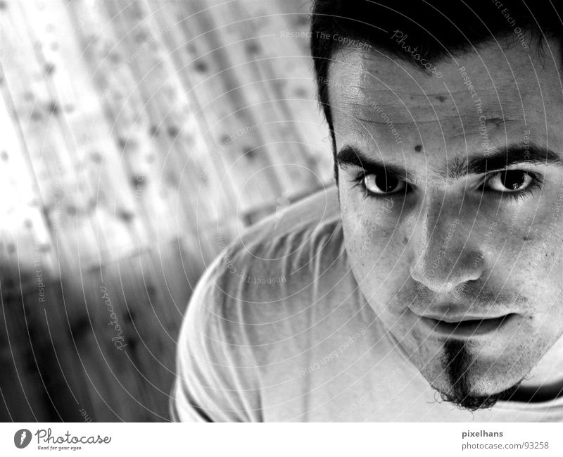 Man Portrait photograph Self portrait Eyebrow Partially visible Goatee Young man Face of a man 18 - 30 years Men's eyes