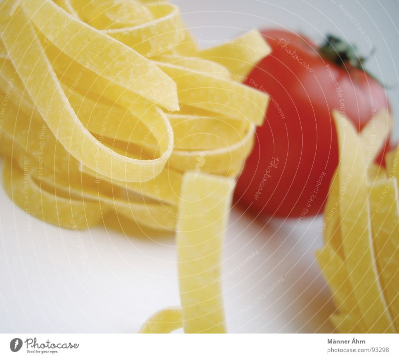 Tomato meets noodle #1 Red Noodles Dough Italy Interior shot Gastronomy Healthy Vegetable Bright background
