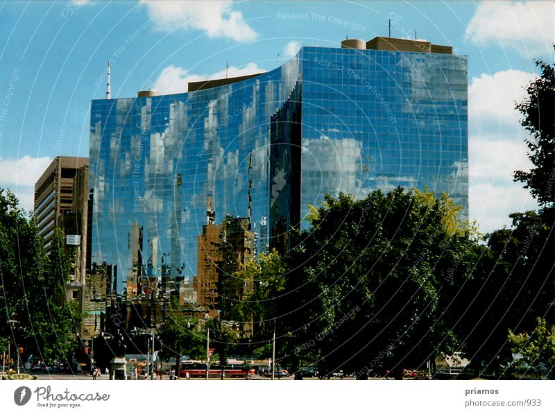 mirror image Clouds Building Mirror Facade Nature Glass Architecture