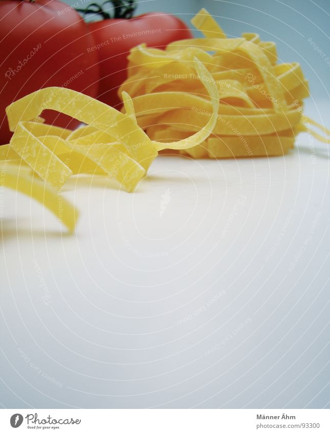 Tomato meets noodle #3 Red Noodles Dough Italy Interior shot Gastronomy Healthy Vegetable Bright background