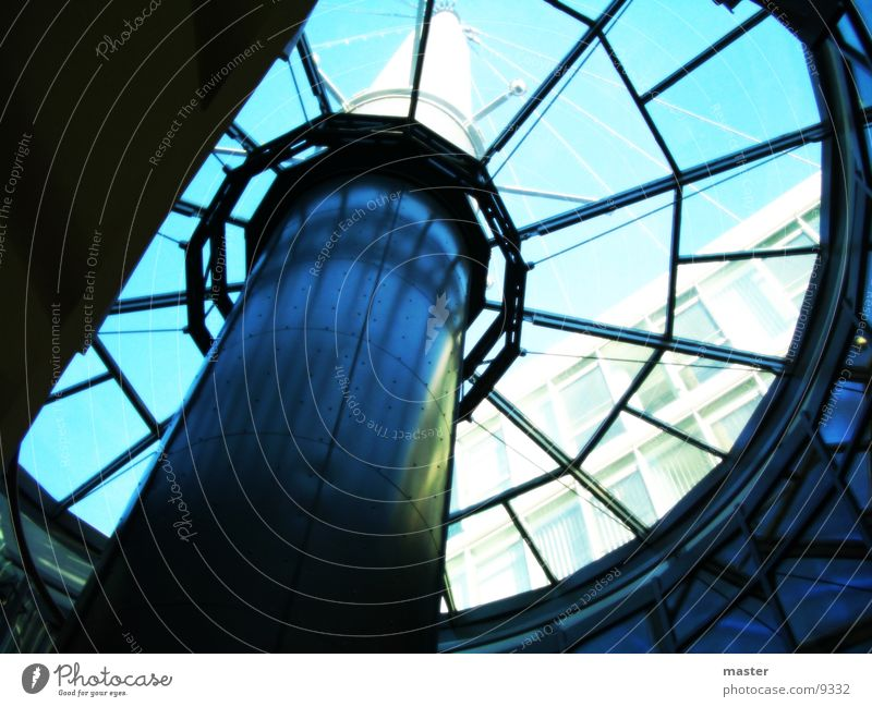 glass dome Roof Window Architecture Glass Stairs Tower Sky