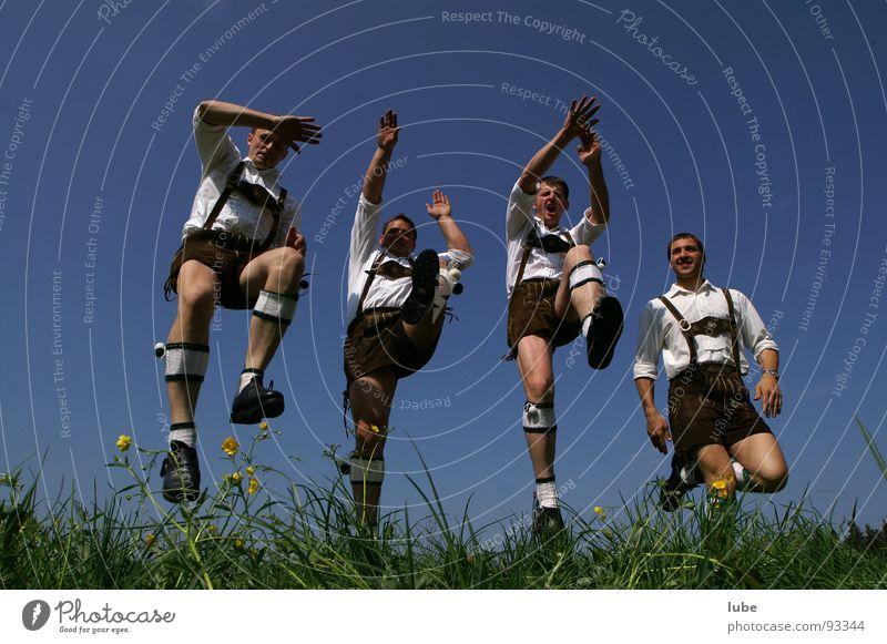 bootlicker Man Jump Costume Folklore music Joie de vivre (Vitality) Joy Leather shorts Dance