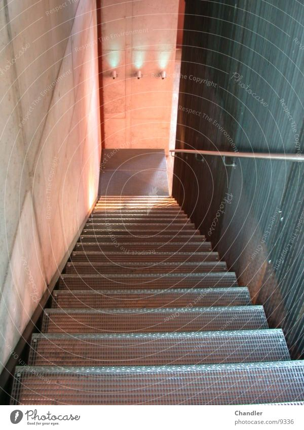 staircase Lamp Go up Grating Stairs stepping Concrete wall Descent