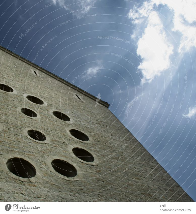 Sky Clouds Window Wall (barrier) Building Religion and faith Round Past Historic Hollow Dome God Deities Münster